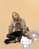 My Melody Japanese Graphic Premium Organic Cotton Grey Hoodie