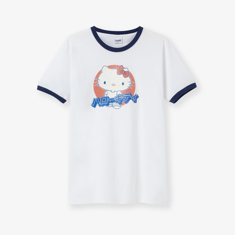 Hello Kitty Japanese Graphic Ringer T-Shirt