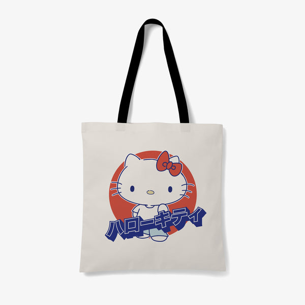 Hello Kitty Japanese Graphic Tote Bag