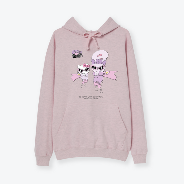 Hello Kitty x Esther Bunny Superhero Pink Hoodie