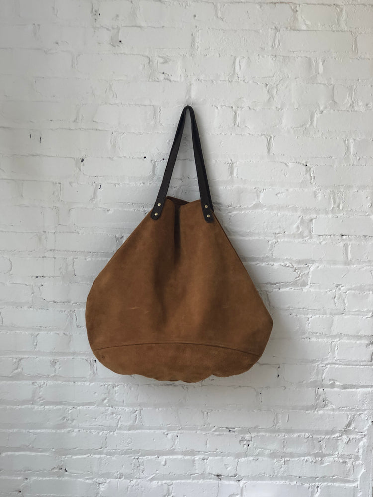 Large suede feed bag