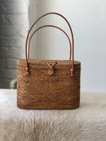 Beach Gold basket bag