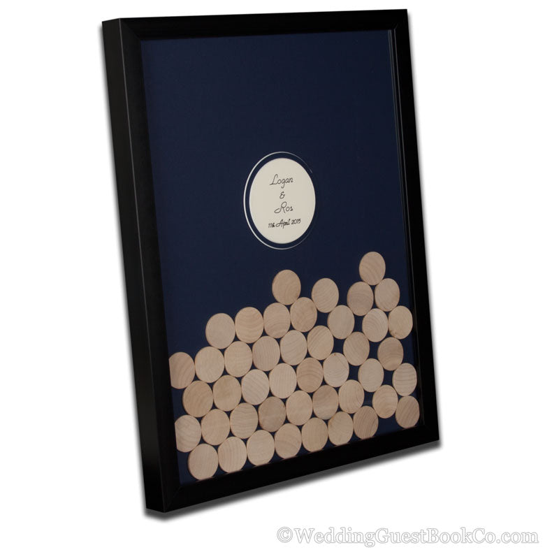 Drop in Circles Wedding Guest Book