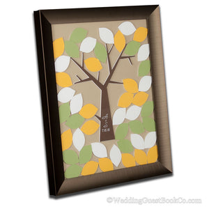 Drop in Leaf Family Tree Guest Book