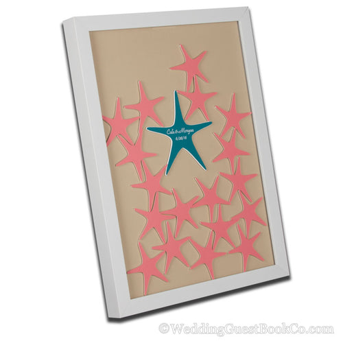 Starfish Drop in Wedding Guest Book