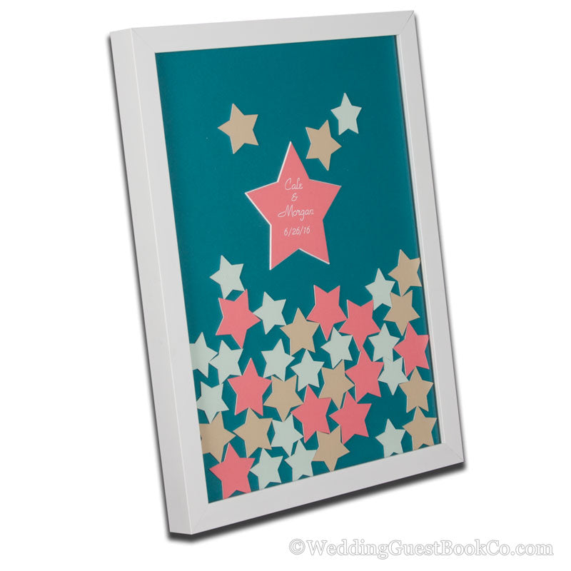 Drop in Stars Wedding Guest Book