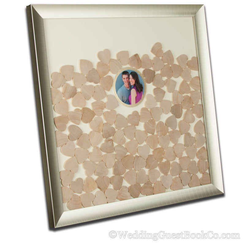 Photo/Logo Center Piece Drop In Wedding Guest Book