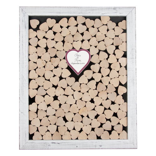 Drop in Hearts Wedding Guest Book