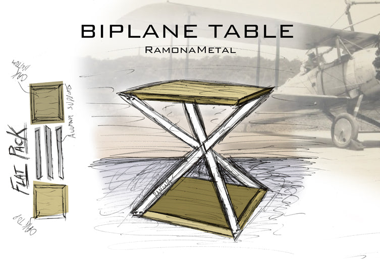 Our Latest Furniture Design, The Biplane Table, Is Coming Soon To  RamonaMetal! We Are Proud To Add It To Our Line Of Aviator Inspired  Furniture.