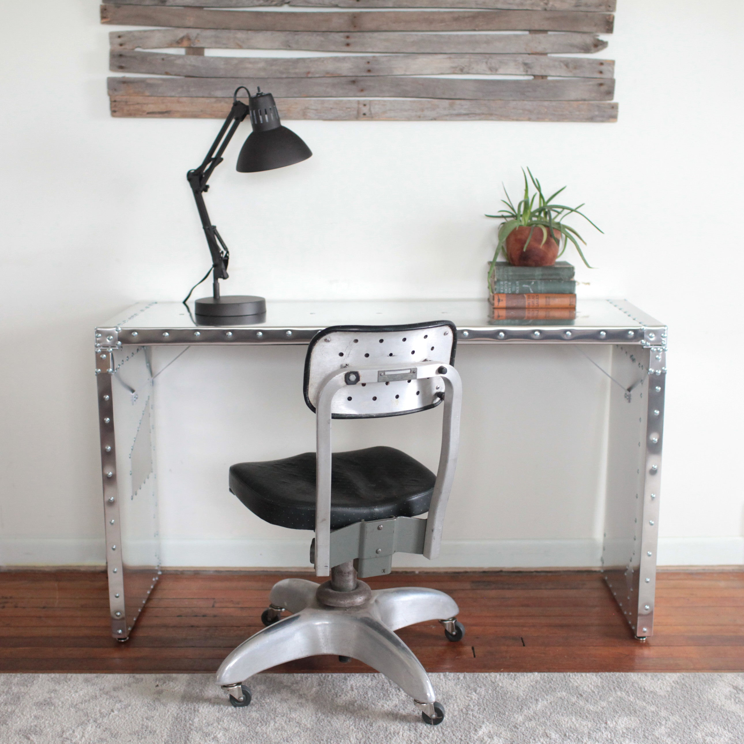 Awesome Air Boss Console Table Desk | Aluminum