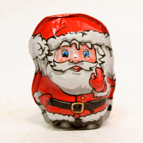 Foiled Milk Chocolate Santa 1 oz