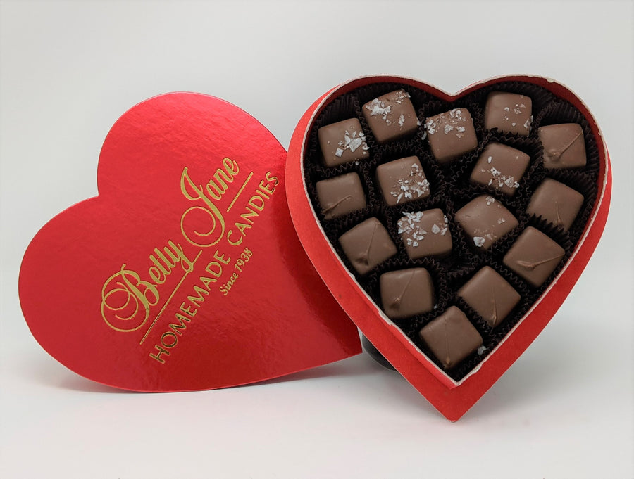 Heart Box Caramel Assortment 8 oz