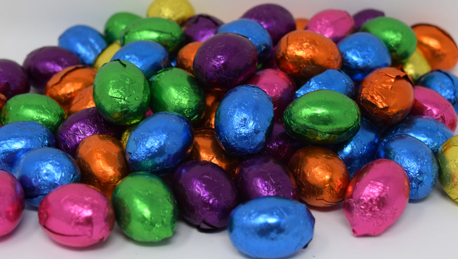 Solid Dark Chocolate Foiled Eggs