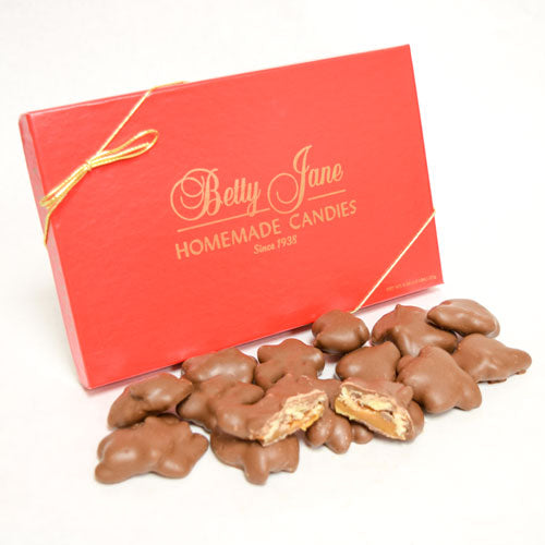 Milk Chocolate Gremlin Red Box w/Gold Print 1/2 lb