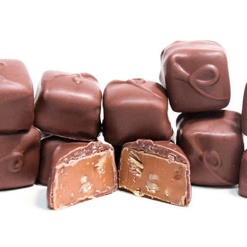 Caramels Pecan Milk Chocolate - 1/4 lb