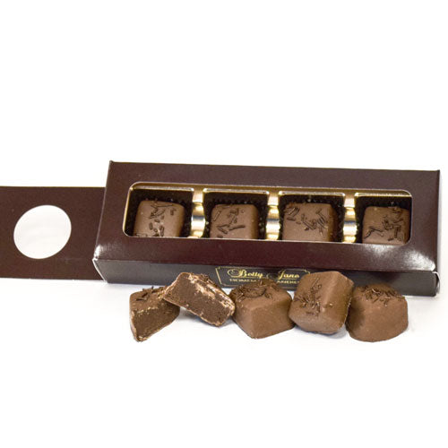 Wine Sleeve Milk Chocolate Truffle  4 pc