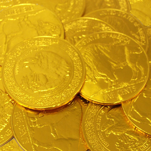 Foil Gold Coins Medium Milk Chocolate Each