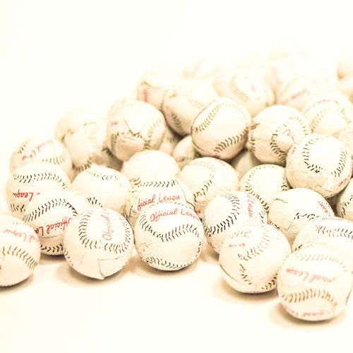 Solid Milk Chocolate Foiled  Baseballs