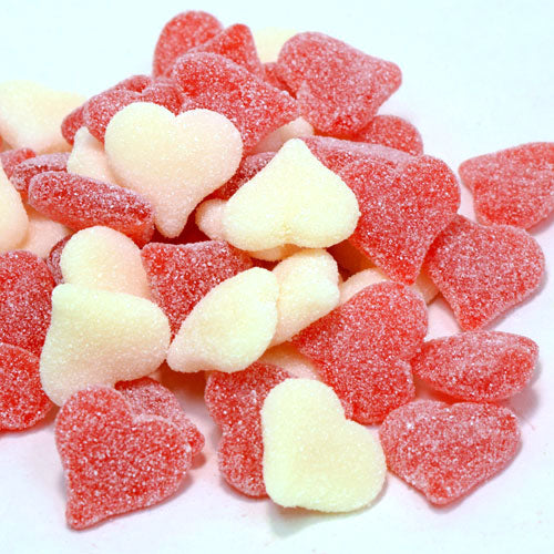 Red/White Heart Gummy Candies
