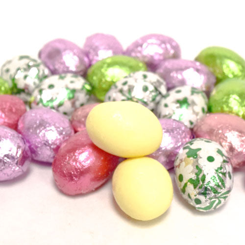 White Chocolate Foiled Easter Eggs