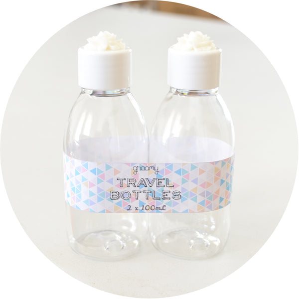 Travel Bottles - 2 pack - White