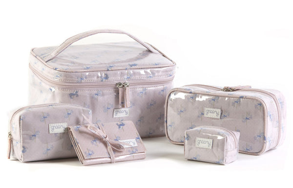 Carousel Toiletry Bag Set Open