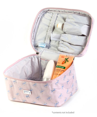 Carousel Travel Case Toiletry Bag Open
