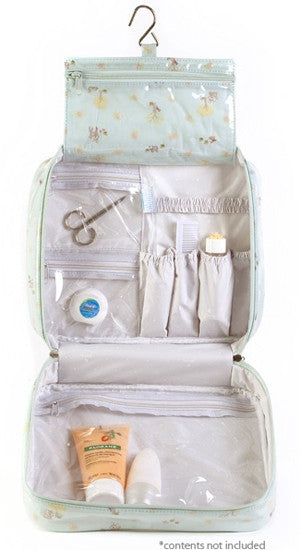 Woodland Hanging Toiletry Bag Open