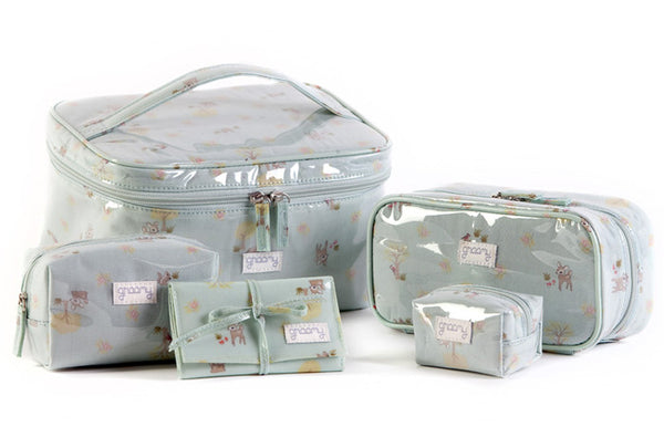 Woodland Toiletry Bag Set Open