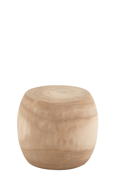Side table wood round