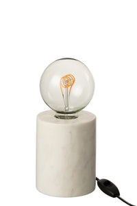 Table lamp marble