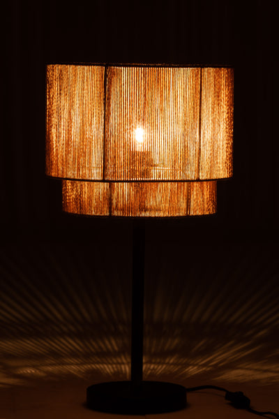 Table lamp with cord lampshade