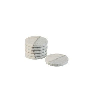 Marble coasters set of 6