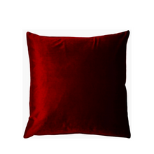 Load image into Gallery viewer, Red velvet cushion cover - Zetuké Home Decor