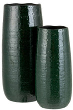 Load image into Gallery viewer, Green vase ceramic large