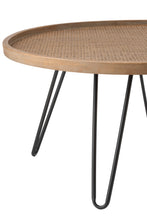 Load image into Gallery viewer, Side table rattan top set of 2