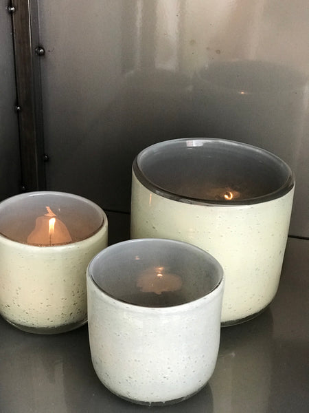 Small grey candle holder - Zetuké Home Decor