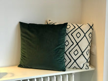 Load image into Gallery viewer, Green velvet cushion cover - Zetuké Home Decor