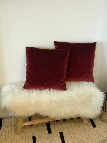 Red velvet cushion cover - Zetuké Home Decor