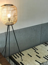 Load image into Gallery viewer, Rattan floor lamp - Zetuké Home Decor