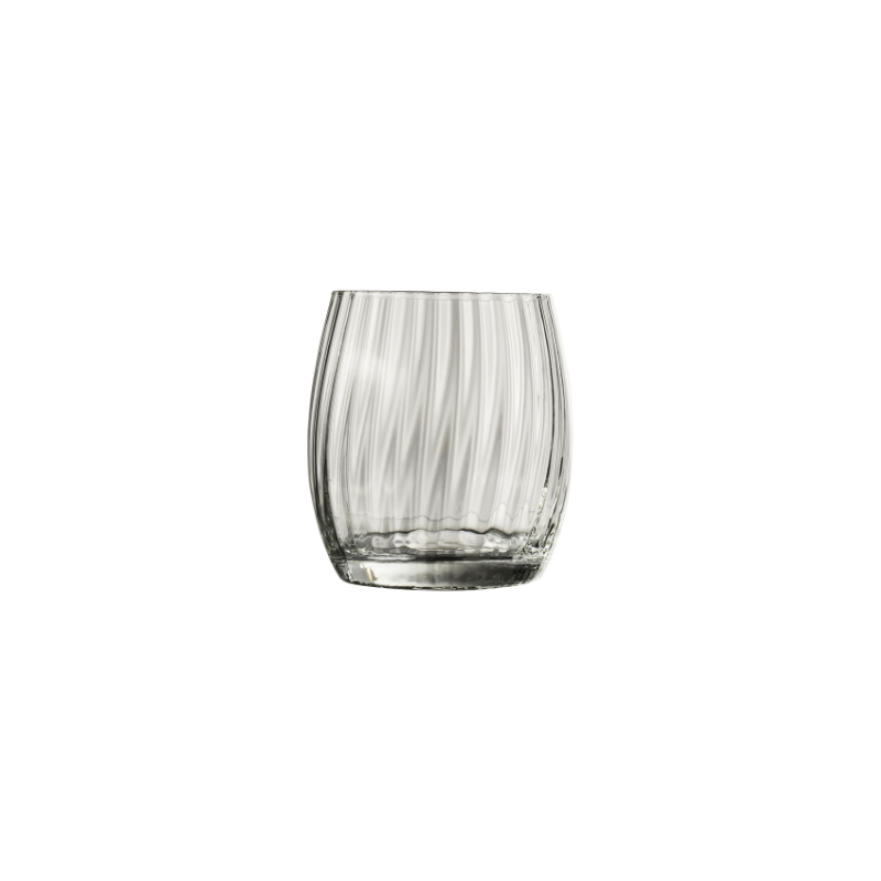 Water glass striped set of 6