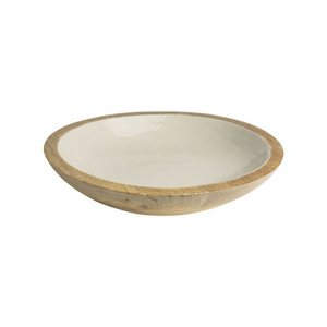 Mangowood serving tray white