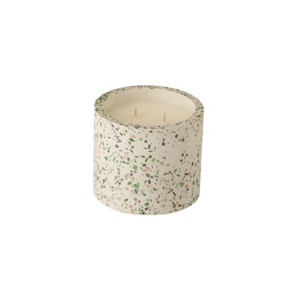 Scented candle green sprinkles