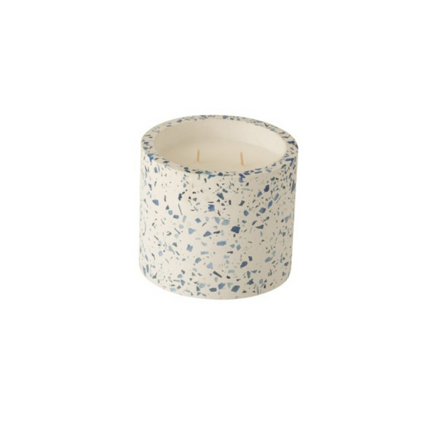 Scented candle blue sprinkles