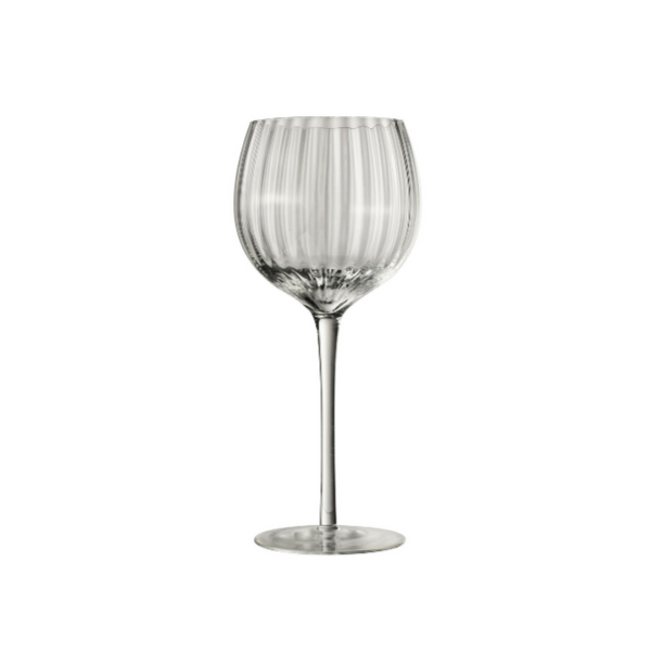 Wine glass striped set of 6