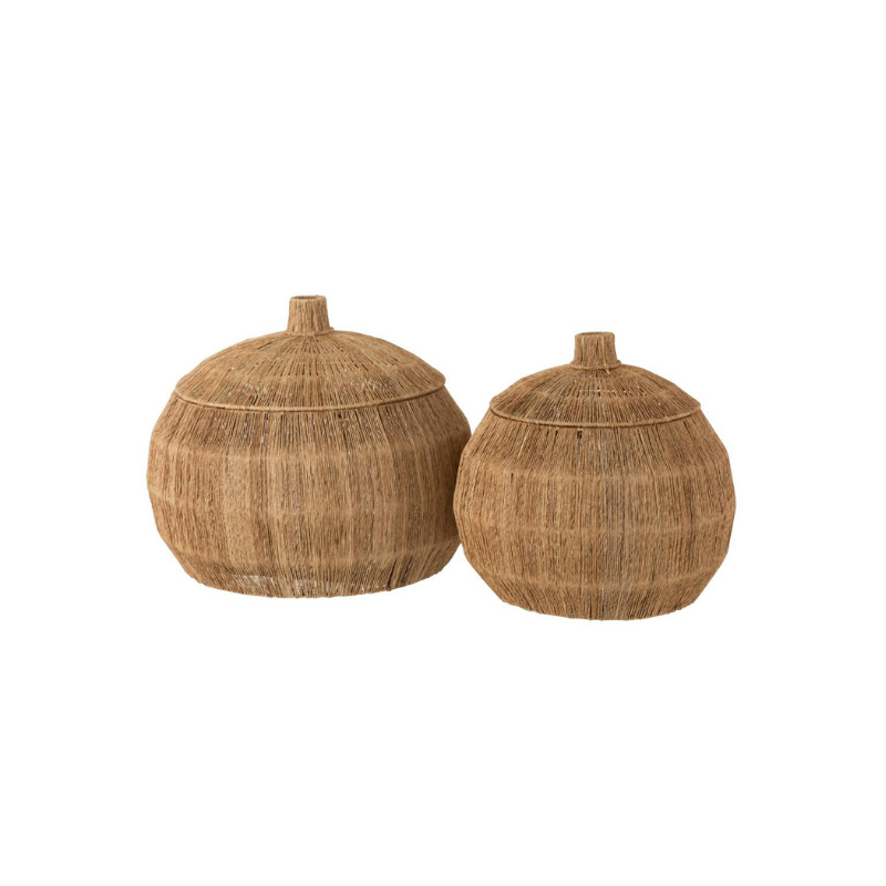 Jute basket round set of 2