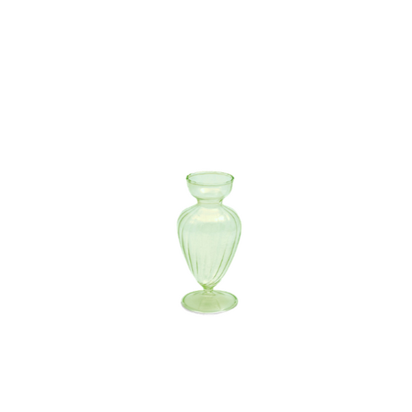 Green glass vase oblong