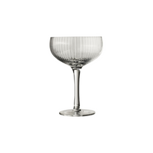 Load image into Gallery viewer, Champagne glass striped set of 6