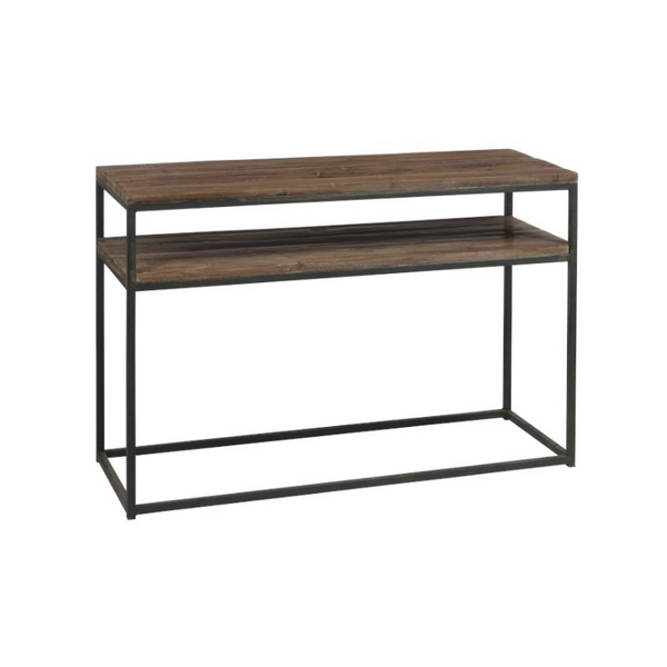 Console wood metal legs