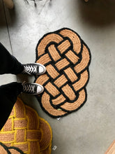 Load image into Gallery viewer, Knotted doormat with black border - Zetuké Home Decor